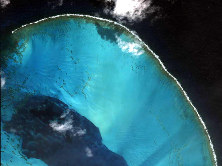 Atoll in the Pacific Ocean September 23 2001