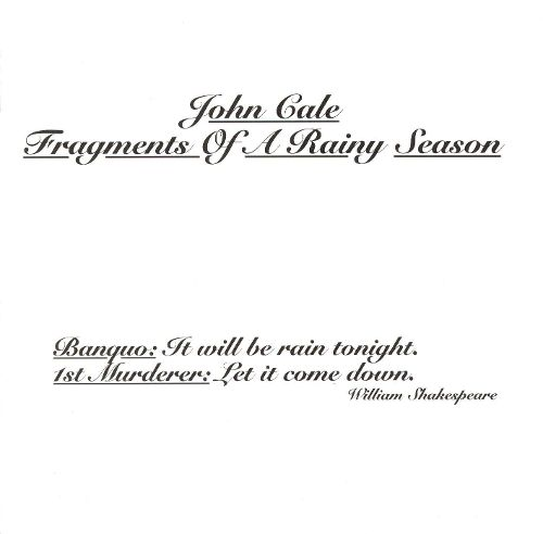 John Cale Fragments of a Rainy Season